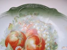 VINTAGE CHINA SERVING PLATE BAVARIA FRUIT APPLES GRAPES 1920'S