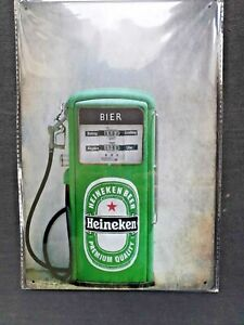 Heineken Pump Metal Sign Plaque Man Cave Garage Pub Bar Retro Vintage Shed