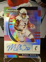 Michael Warren II 2020 Panini Prizm Draft Picks SILVER AUTO PRIZM