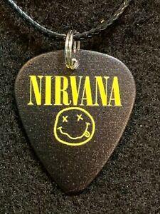 NIRVANA Guitar Pick Necklace Grunge MUSIC Kurt Cobain (A) Smiley
