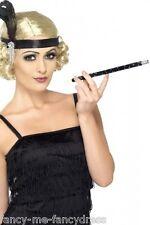 Ladies Black Sequinned 1920s Flapper Costume Charleston Cigarette Holder Stick