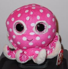 """Ty Beanie Boos ~ OLLIE the 6"""" Pink Octopus ~ Regular Size ~ 6 Inch) ~ MWMT'S"""