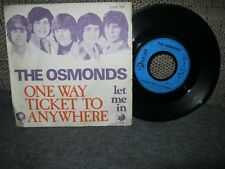 The Osmonds-One way ticket to anywhere1973FRANCE2006321Vinyl und Cover gut