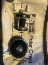 Vintage Garcia-matic fly reel, South Bend Polar Creel and antique trolling reel