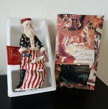 """Duncan Royale 1983 Patriotic American Flag 12"""" Civil War Santa New in Box Number"""