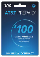 At&T Prepaid Wireless $100 Refill Card Talk Text Data 4G Lte (Instant Refill) B4