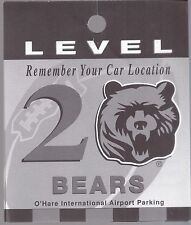 O'Hare Airport Level 2 Chicago Bears Parking Car Location Reminder Paper