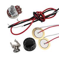 Guitar Piezo Pickup Knob Pot Potentiometer B500K Kit for Cigar Box Guitar Parts
