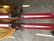 Vintage Austria Silver glass Snow skis downhill