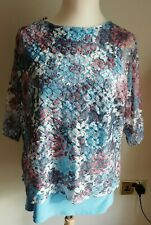 New Ladies Top Forever By Michael Gold Size L UK 14 - 16. Made in UK.