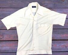 317ee731 Men's 60's Short Sleeve Shirt Yellow PURITAN Rockabilly Elvis M ...