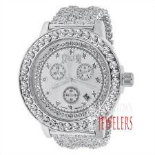 Real Diamonds Solid Steel White Gold Tone Joe Rodeo Jojino Khronos Custom Watch