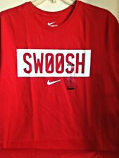 AUTHENTIC NIKE 100% COTTON NIKE SWOOSH RED T SHIRT 943069-657