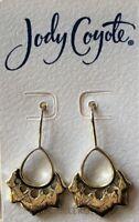Jody Coyote Earrings JC0311 New NU-0911-03 Nouveau Collectio 18 karat gold plate