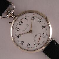 Serviced Chronometre Junghans Antique GERMAN Gent's Silver Wrist Watch Perfect