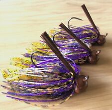 3//8 Oz Fry Chaser 3 Custom Bass Football Jigs