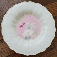 Mikasa Botanica Pink 82020 Ivory Bone China Salad Plate Narumi Japan Gold Trim