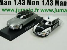 Lote 2 X 1/43 ist Deagostini Citroën DS 21 Faros Police (Policía) + Din BAL66T+