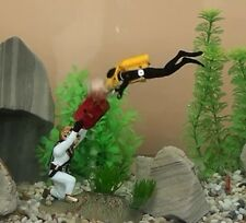 "New 4"" Air Action *Treasure Diving* Aquarium Ornament Fish Tank Decoration 0-76"