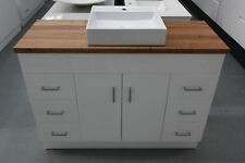 Pasadena 1200 Vanity featuring Wormy Chestnut Timber Bench Top