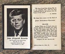 1963 JFK John Kennedy Funeral Mass Prayer Cards 2 3/8 x 4 in. FREE SHIP Mint (2)