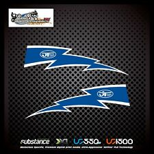 Suzuki RM 125 89-92 Lightning Rad Dark Blue Decal Sticker Evo MX (786)