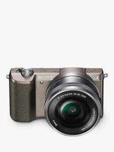Sony A5100 Compact System Camera,16-50mm OSS Lens, FREE 32GB Memory Card BROWN