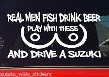 SUZUKI sierra jimny 4x4 Funny Stickers REAL MEN 200mm