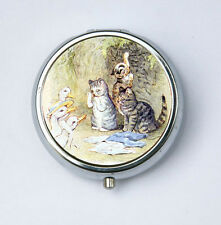 Tom Kitten pillbox PILL case box holder victorian fairy tale cats ducks