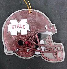Mississippi State Bulldogs Glass Helmet Christmas Ornament Football College Fan