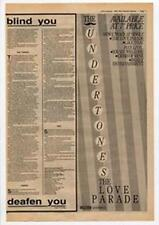 Undertones The Love Parade Advert NME Cutting 1983