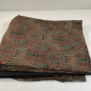 fabric craft upholstery sewing velvet corduroy textured paisley red green 100x44