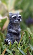 Miniature Moe the Raccoon Fairy Garden WS 1441