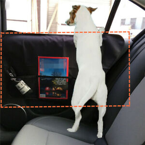 2Pcs Car Side Door Anti-scratch Pet Pad Protector Oxford Cloth W/Storage Pouch