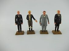 LOT of 4 1960's MARX Miniature Presidents, Cleveland, Taylor, Van Buren, Jackson