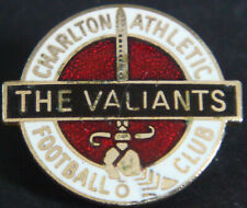 More details for charlton athletic fc vintage club crest badge brooch pin in gilt 26mm x 22mm