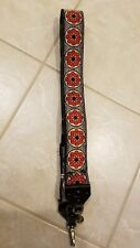 Vintage Pat P Flower Camera Strap Nice Woven Design Leather