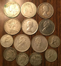 LOT OF SILVER CANADA 25/10 CENTS LOT OF 13 SILVER COIN + 1 X 1969 QUARTER