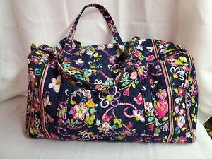 Vera Bradley Weekender Duffel Large Travel Bag in Ribbons Floral Breast Cancer