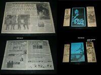 Original DOGS OF WAR New Zealand Daybill NEWSPAPER CLIPPINGS Berenger WALKEN