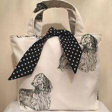 Long Haired Daschund Dog Print bag