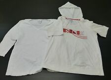 Oh Baby & Reebok Womens Materniy Size XL White Shirt Great Condition