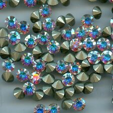 1088 SS29 CI *** 10 strass Swarovski fond conique 6,2mm CRYSTAL AB F
