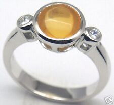 Gorgeous! Mexican Fire Opal Silver Ring S 6.75, #153
