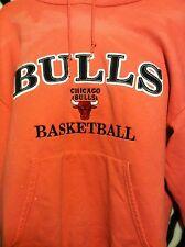 Chicago Bulls NBA Pink Hoodie Sweatshirt Champion WOMEN's Size L Large Stitched