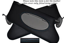 BLUE STITCHING FITS ROVER 75 MG ZT 1999-2005 2X SUN VISORS LEATHER COVERS ONLY