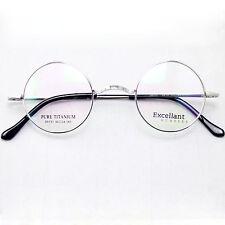 Agstum 42mm Luxury Titanium Round Vintage Eyeglass Frame RX Clear
