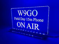 Field Day 12v Custom Engraved Led Sign Amateur Radio Club Call Plaque