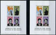 CAMEROUNS JOHN KENNEDY, GANDHI MARTIN L KING,JR.  SC#C115a LOT OF TWO SHEETS NH