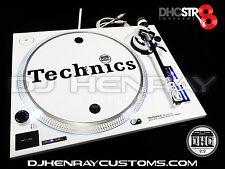 2 custom white w black accents Technics SL 1200 mk2's w white leds DHC Str8 arms